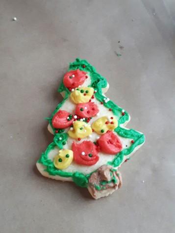gf sugar cookie decorated
